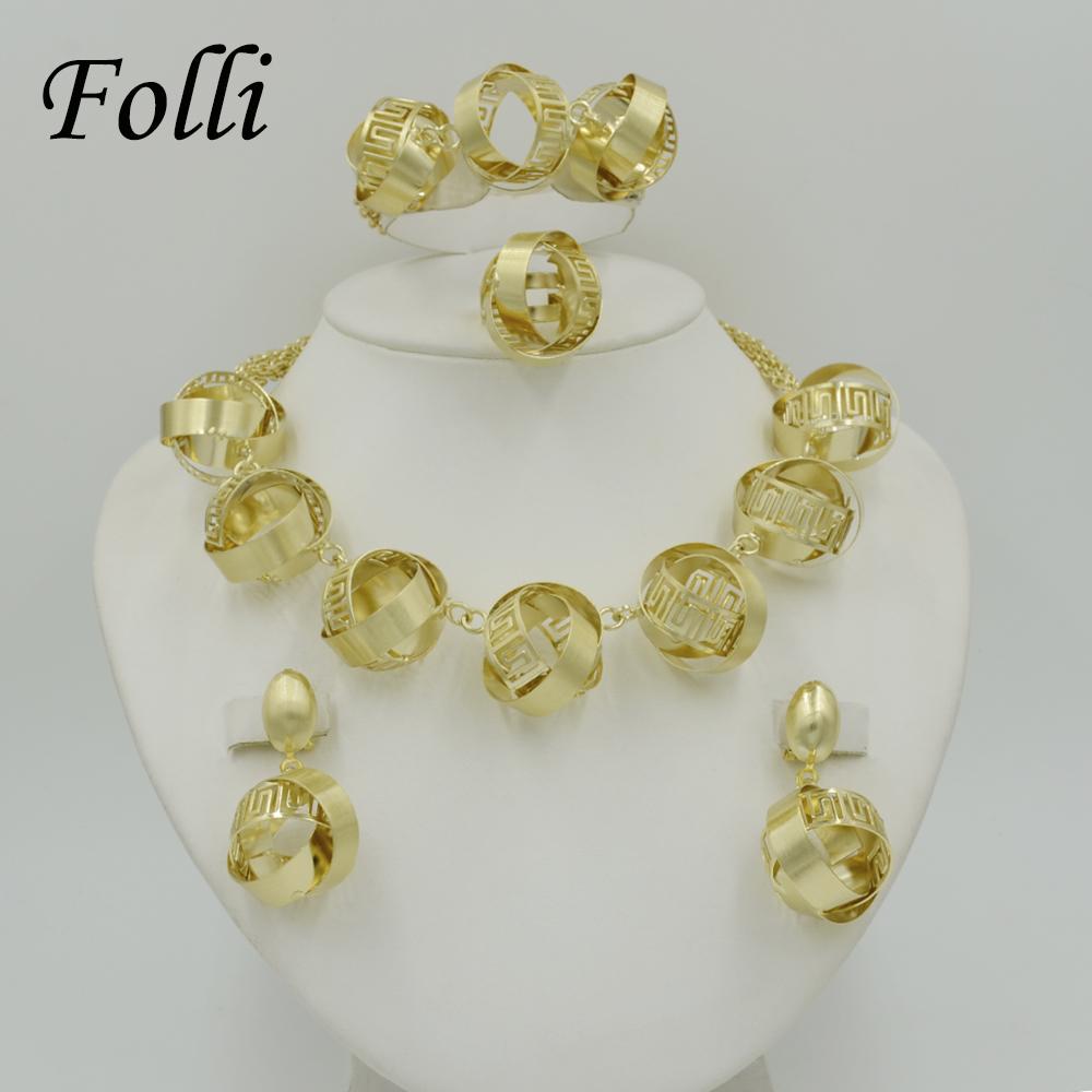Romantic Brand Dubai Gold Plated Totem Jewelry Set 18K Luxury