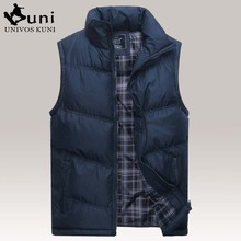 2016 Brand New Men's Fashion Outerwear Casual Vest Men Winter Coat Warm Sleeveless Jacket Male Cotton Military Waistcoat DHY3135(China (Mainland))