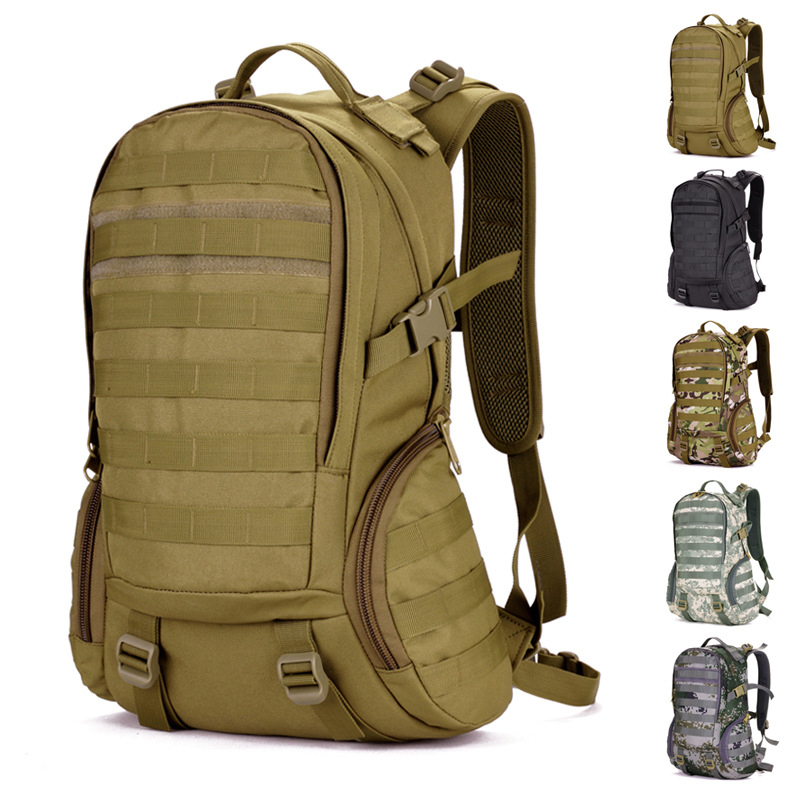 Waterproof Molle Backpack Camping bags Military 3P Gym Hiking Trekking Ripstop Woodland Tactical Gear for men 35L Free Shipping