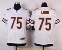 Men's free shiping A+++ quality Chicago Bears #75 Kyle Long Elite(China (Mainland))