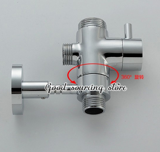 Faucet Brass Shower Rod Holder Diverter In Bathroom Faucet Accessories From Home Kitchen