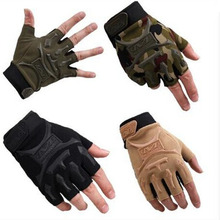 Hot Sale Tactical Half Finger Gloves Anti-Slip Men Commando Tactics Outdoor Sports Outdoor Shockproof Cut-Resistant Mittens(China (Mainland))
