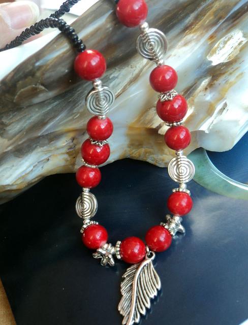 National trend accessories tibetan miao silver multicolour chaeseokgang tibetan necklace pendant csxl013