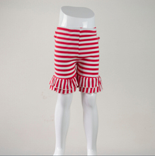 mix 10color kids girls baby cotton stripe ruffle shorts(China (Mainland))