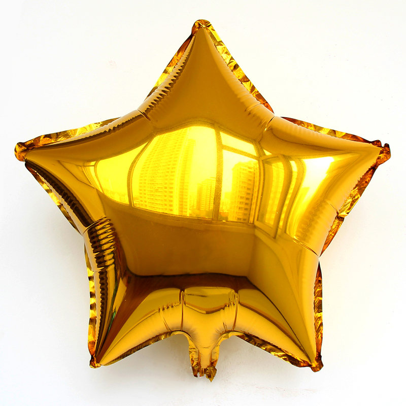 10pcs/lot Wholesale 18inch gold balloons star ballons, heart baloes inflatable globos for wedding party supplies ball inflaveis