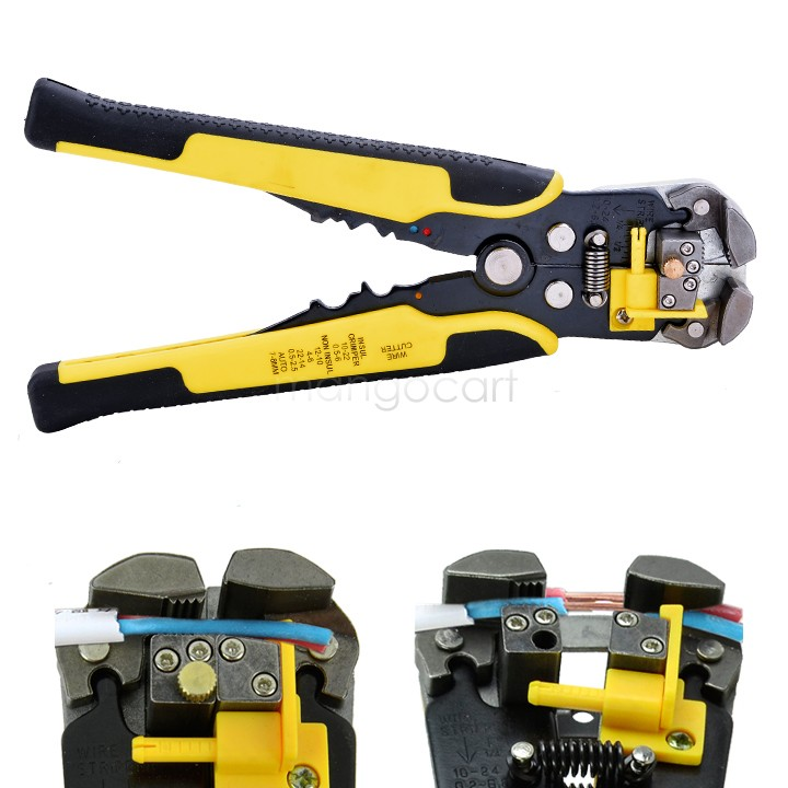 2014 New Arrival Multifunctional Automatic Cable Wire Stripper plier Self Adjusting Crimper Terminal Tool 25(China (Mainland))