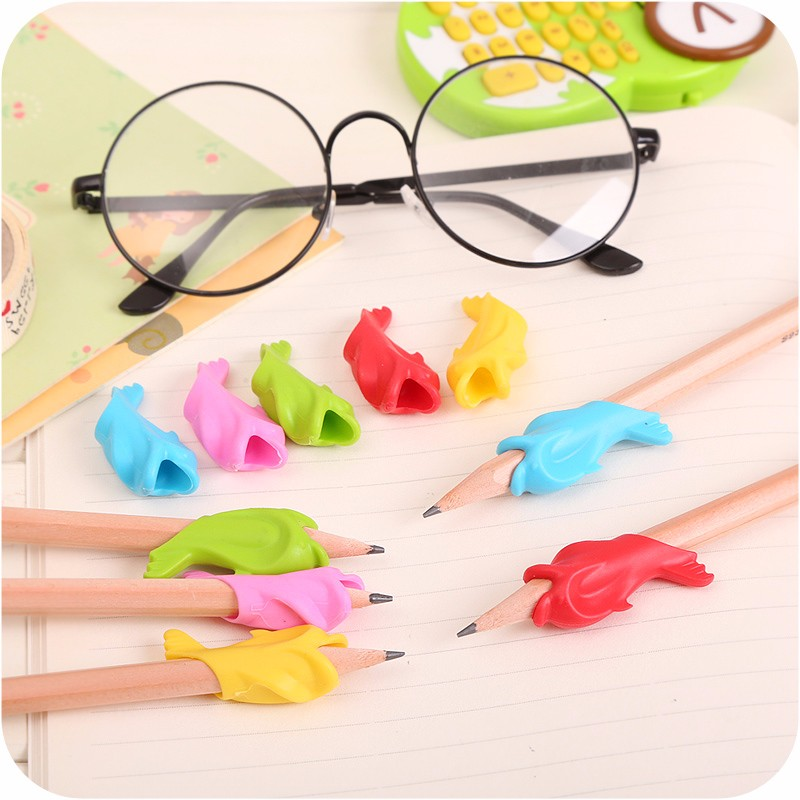 5pcs Pencil Holding Practise Device Students Stationery for Correcting Pen Postures Grip Learning Stationery Necessary