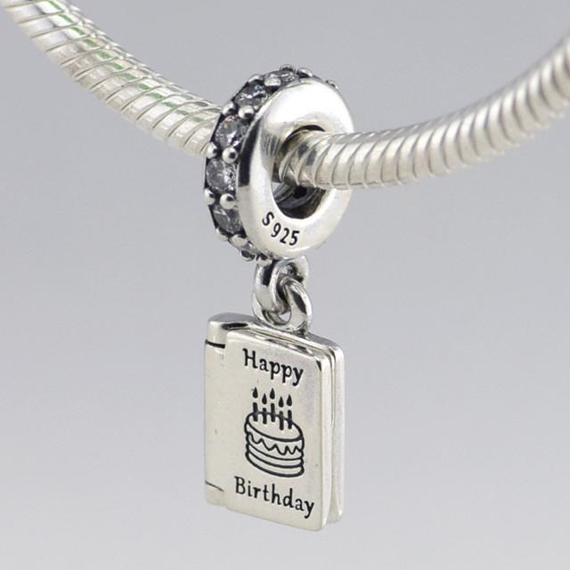 Осень стиль серебряные ювелирные изделия 925 рождения пожелания мотаться бусины Fit пандора оригинальный подвески браслеты DIY ювелирных украшений