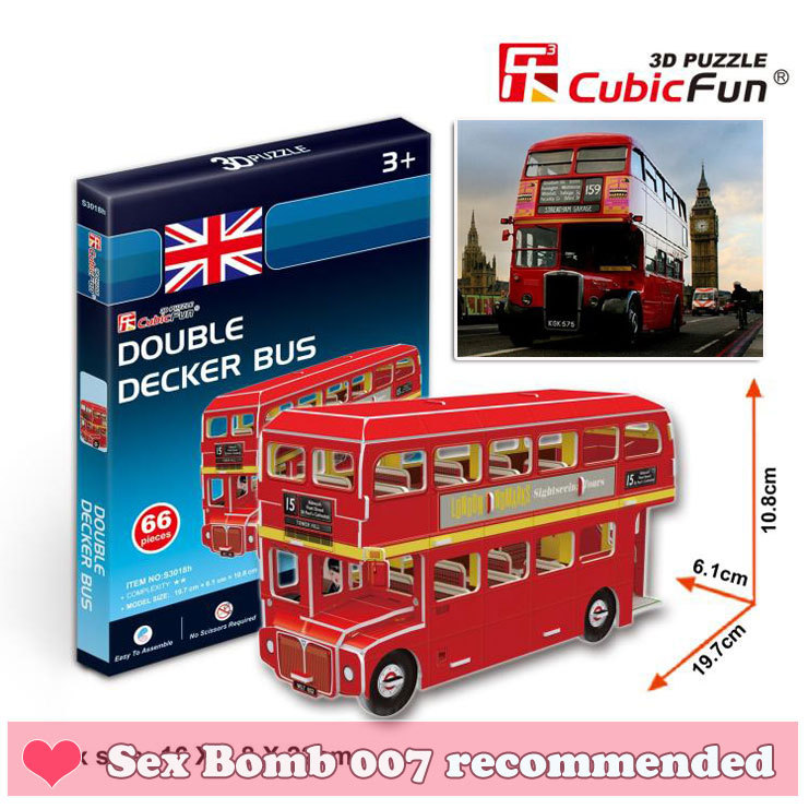 New Paper Crafts Model Mini UK London Double Decker Buses 3D Jigsaw Puzzle Paper Model Educational Toy models sets Free shipping(China (Mainland))