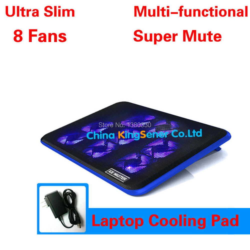 Ultra Slim 8 Pieces Fans Laptop Cooler,Laptop Cooling Pad,Computer Fan Base Plate,Cooling Base,Portable Computer Cooling Pad <br><br>Aliexpress
