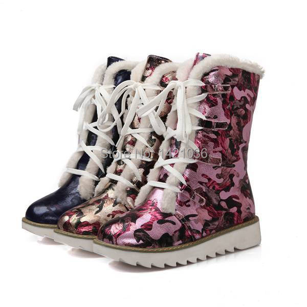 Gold Boots Womens Women Winter Snow Boots