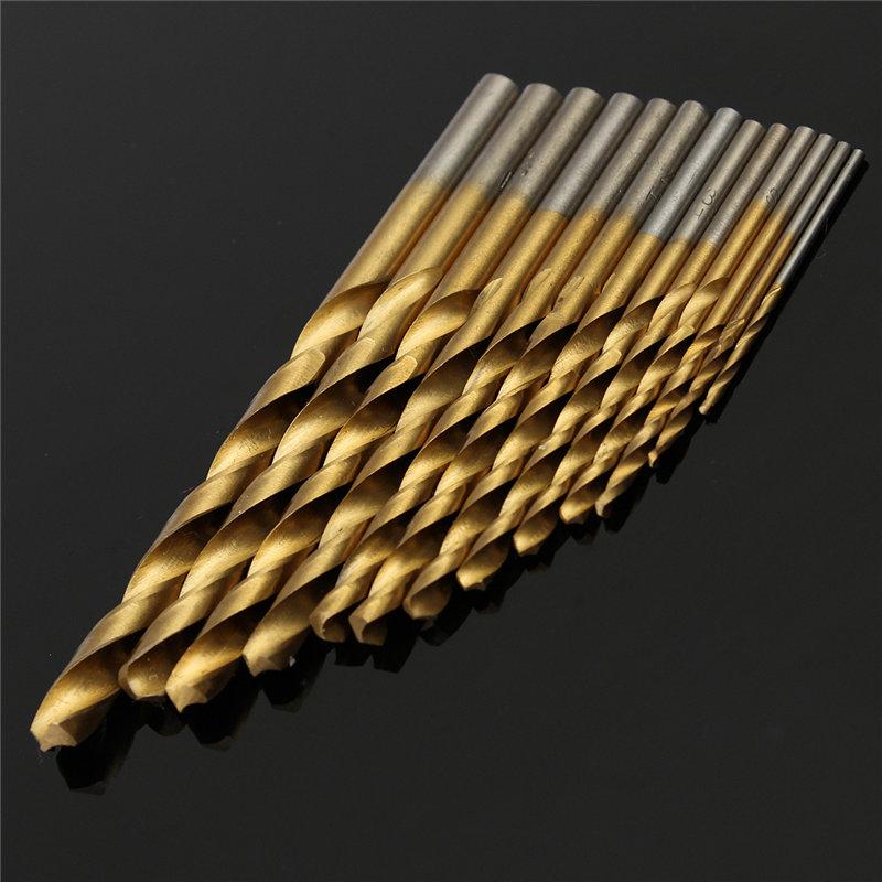 Hand Tools High Speed 13pcs Hss Steel Titanium Coated Drill Bit Set Shank 1.5-6.5mm tools knife dremel<br><br>Aliexpress