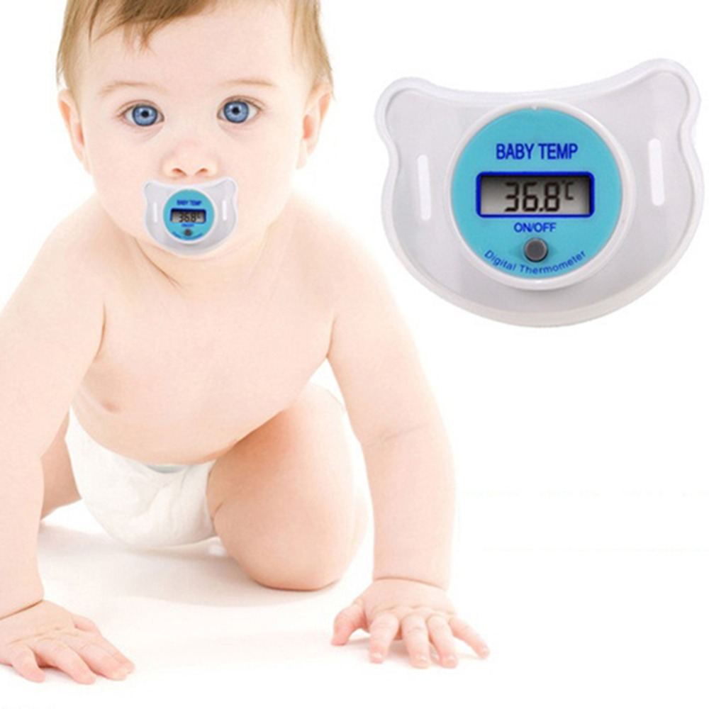 New Practical Baby Infants LCD Digital Mouth Nipple Pacifier Thermometer Temperature Celsius(China (Mainland))