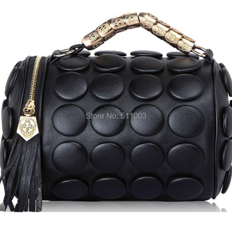 Wholesale Hot Sale Women Messenger Bags Big Capacity Women Leather Handbags PU Metal Tote Shoulder Bags With Tassel(China (Mainland))