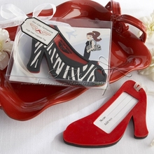 Free Shipping Fashion High Heel Luggage Tag Favors Wedding Gifts Favors Supplies/Wedding Favor(China (Mainland))