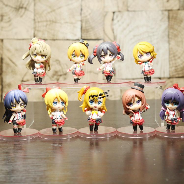 Anime Love Live! School Idol Project PVC Action Figures Toys 9pcs/set LVFG002(China (Mainland))