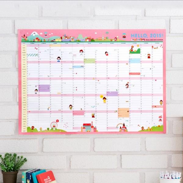koop 2015 muur kalender planner plan. Black Bedroom Furniture Sets. Home Design Ideas