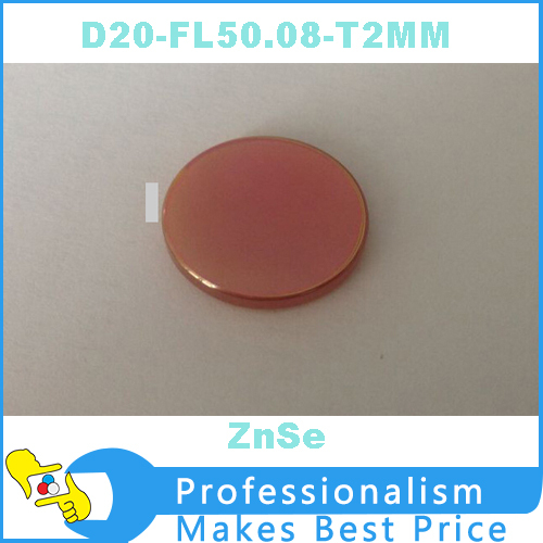 znse Diameter 20mm Co2 Optical Focal Lens Focusing Mirror for Laser Engraver Cutting Machine Focal Length 50.8mm(China (Mainland))
