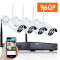 ZOSI 4CH CCTV System 960P HDMI NVR 4PCS 1 3MP IR Outdoor P2P Wireless IP CCTV