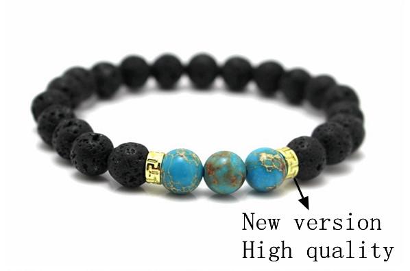 New Products Wholesale Lava Stone Beads Natural Stone Bracelet, Men Jewelry, Stretch Yoga Bracelet