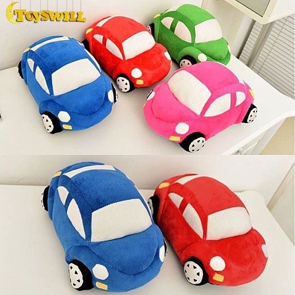 """4PCS 30cm 12"""" Child sedan Cars Plush Toy Gift Beetle Pillow stuffed doll blue red pink green four color For baby Kids(China (Mainland))"""