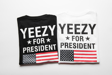 YEEZY T Shirt Men 1:1 High Quality Yeezy For President Obama American Flag T-shirt Kanye West USA Yeezus Tees DGK YEEZUS T Shirt