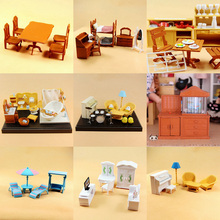 New Arrival Sylvanian Families Miniature Re-ment Dollhouse Furniture Bathroom Living Room Mini Dressing Table Kids Pretend Toys(China (Mainland))