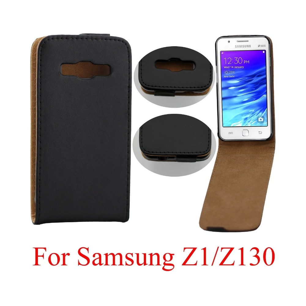 Leather mobile phone case design cell phone cases manufacturer for SAMSUNG Z1/Z130 Phone Case PU Leather Case(China (Mainland))
