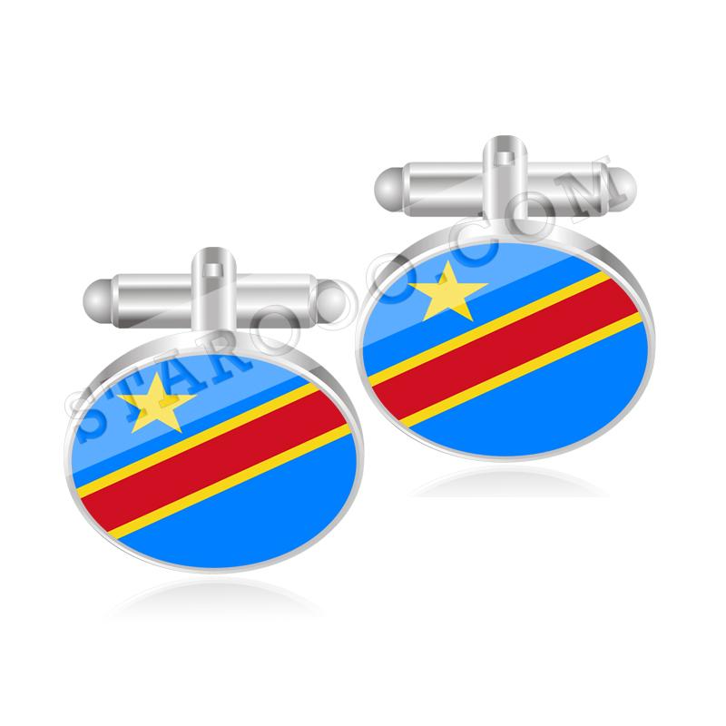Congo Democratic Republic Congo Cook Islands Costa Rica Cote D'Ivoire Croatia Flag Cufflinks(China (Mainland))