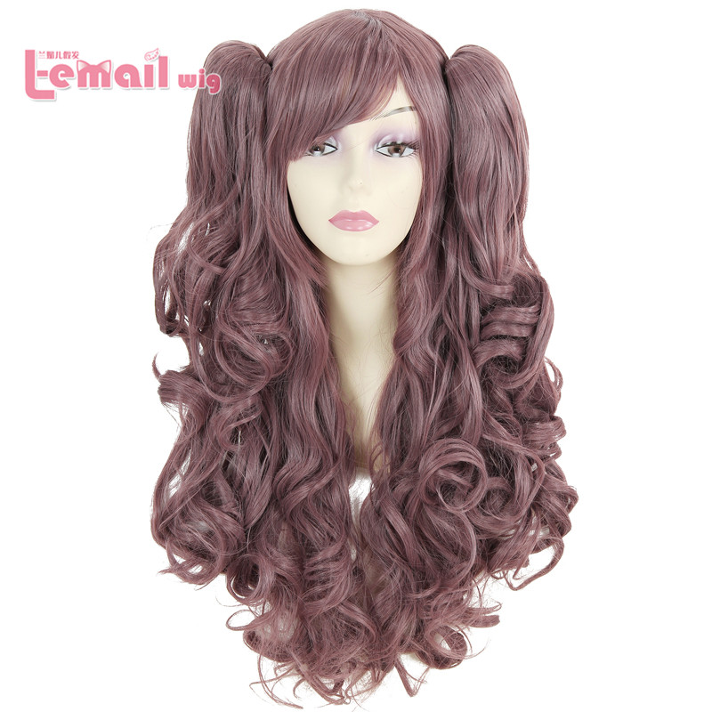 Free Shipping 65cm Synthetic Hair Curly Sweet Lolita Cosplay Wig +2 Ponytail<br><br>Aliexpress