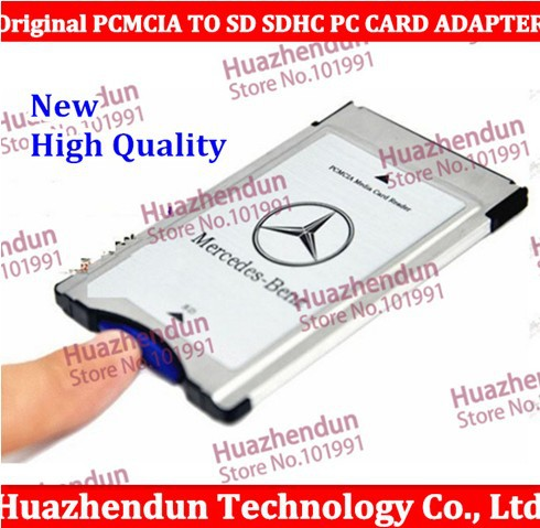 NEW Original PCMCIA TO SD SDHC PC CARD ADAPTER for Mercedes-Benz with case freeshipping High Quality(China (Mainland))