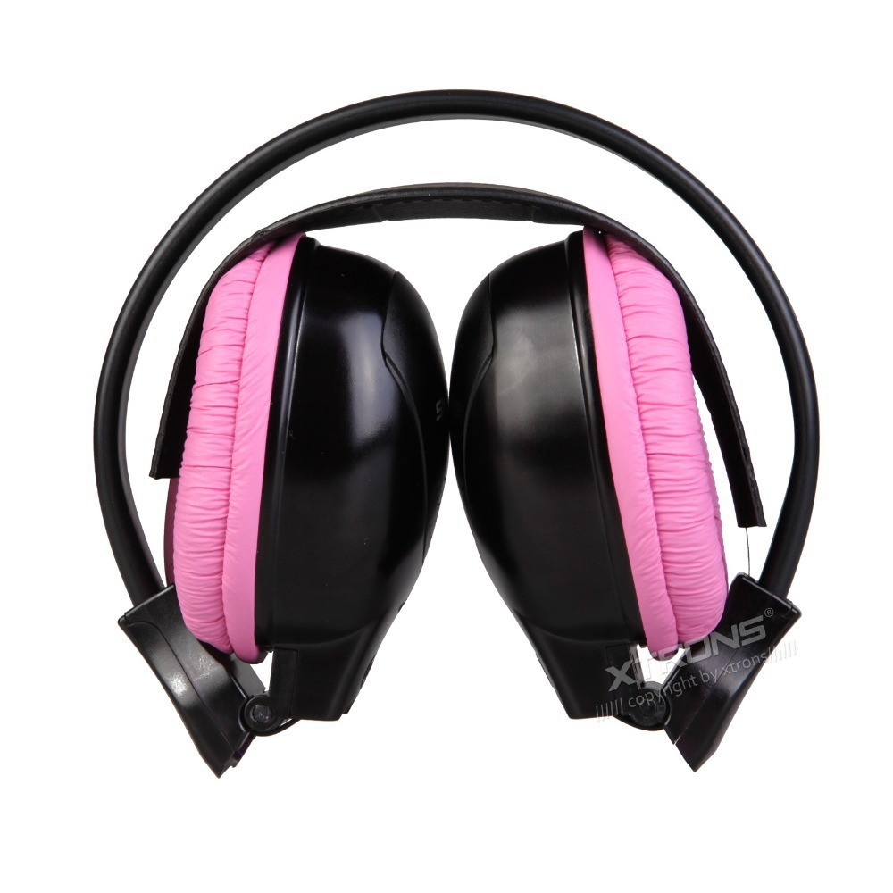 XTRONS 2pcs/lot Dual Channel Wireless IR Headphones for Car Headrest DVD & TV & PC & MP3 for Children with Pink Color(China (Mainland))
