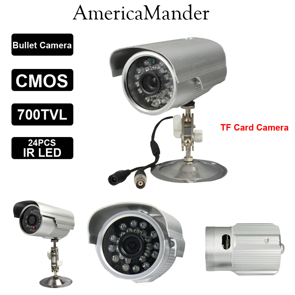 Sony CMOS TF Card Outdoor IP66 Waterproof BNC IR Night Vision Security Surveillance Bullet CCTV Camera Video Recorder System(China (Mainland))