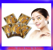 Hot new 8pcs/lot Gold Crystal collagen Eye Mask Hotsale eye patches 8pieces=4 packs Crystal bionic M.n beauty black eye make up