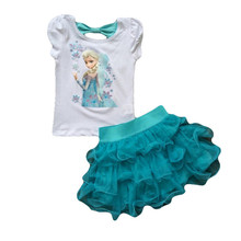 Buy Children's clothing set 2017 New Summer girls Princess Dress + T shirt sets kids clothes Kids Tracksuit Girls Children Clothing for $2.78 in AliExpress store