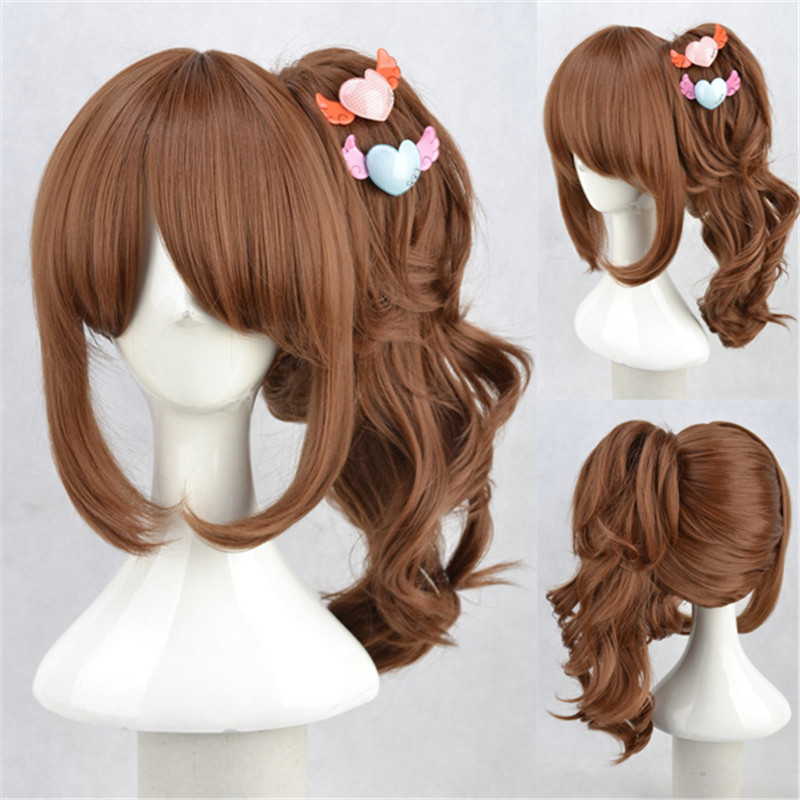 BROTHERS CONFLICT Asahina Ema Brown Cosplay Wig Lolita Harajuku Women Girls COS Hair Halloween Party Wigs with One Ponytail<br><br>Aliexpress