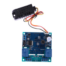 Buy AC/DC 12V Intelligent Temperature Humidity Controller Relay Thermostat Capacitive Temperature Humidity Controller Board for $14.65 in AliExpress store