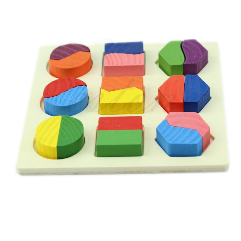 Y92 Baby Kids Wooden Learning Educational Toy Geometry Block Montessori Early Toys - on sale store