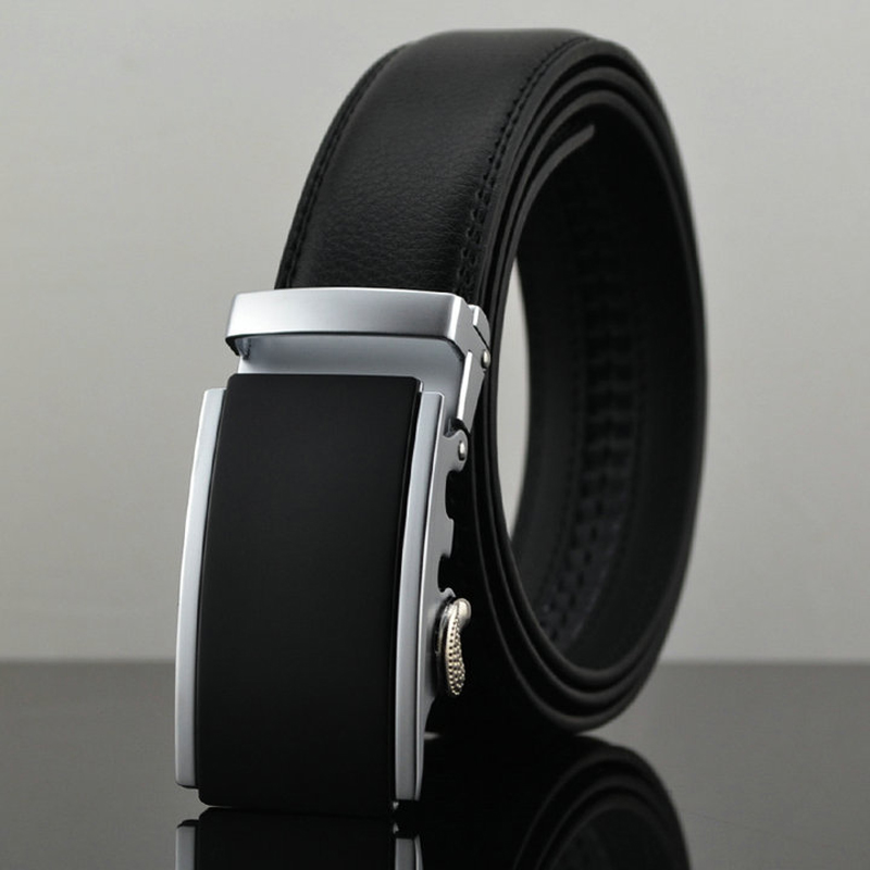 Belt 2016 New Designer Automatic Buckle Cowhide Leather men belt 110cm-130cm Luxury belts for men(China (Mainland))