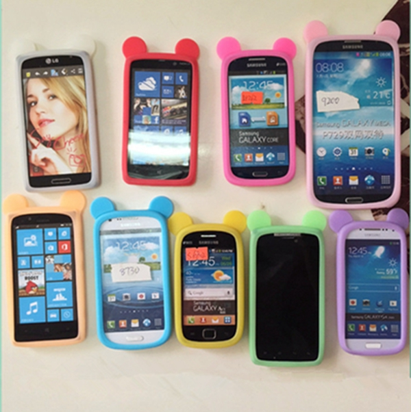 10pcs Universal Multi Cat Ears Silicone Bumper Phone Cover Case ForSony Xperia Z2 Z3 Z4 Z5 M2 T3 iPhone 6S Lenovo P780 S850(China (Mainland))
