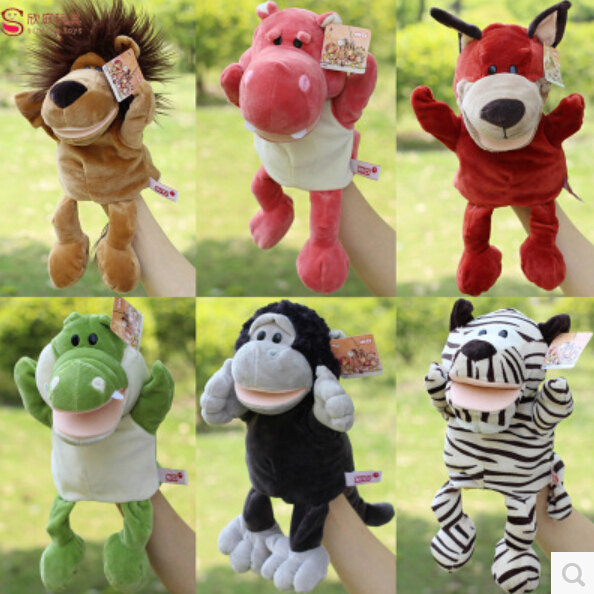 Glove puppet Move your mouth baby toy animal finger accidentally(China (Mainland))