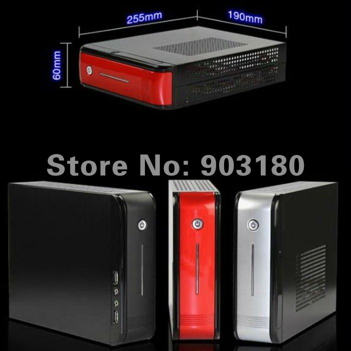 Hot MINI ITX case nettop A.M.D N330 Dual Core 2.3GHz RS880M+SB820M WIFI 1080P HDMI MINI PC 4G DDR 3/320G HD, support 64 bits os(China (Mainland))