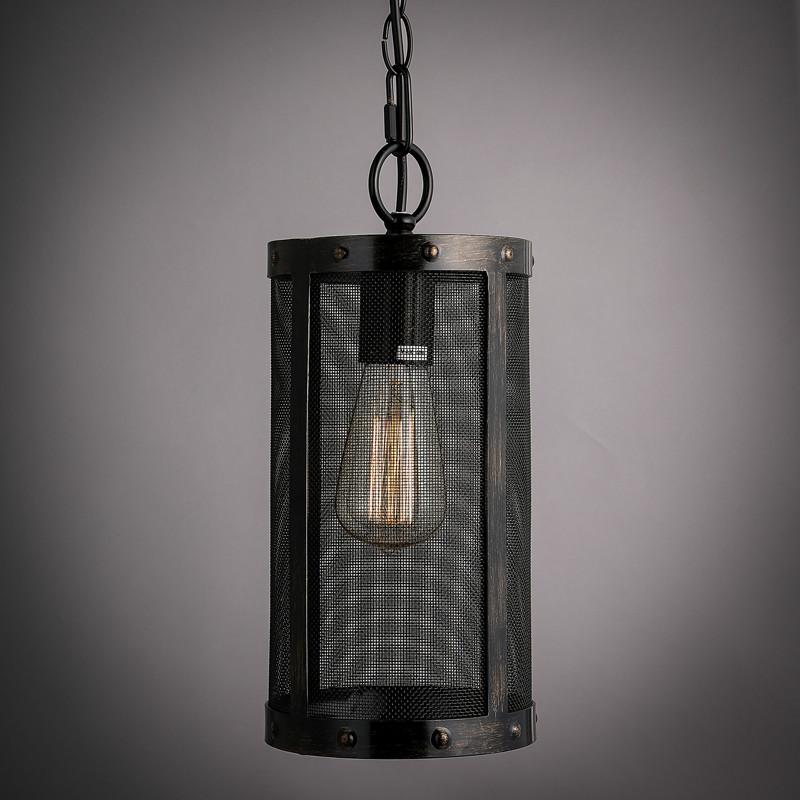 Nordic Loft Metal Mesh Retro Pendant Light Fixtures Edison
