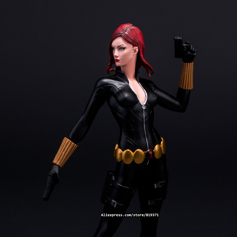 Hot sale 23CM Marvel DC Movie Maquetas Black Widow The Avengers Action Figures PVC Resin Scale Model People Toys Collectibles(China (Mainland))