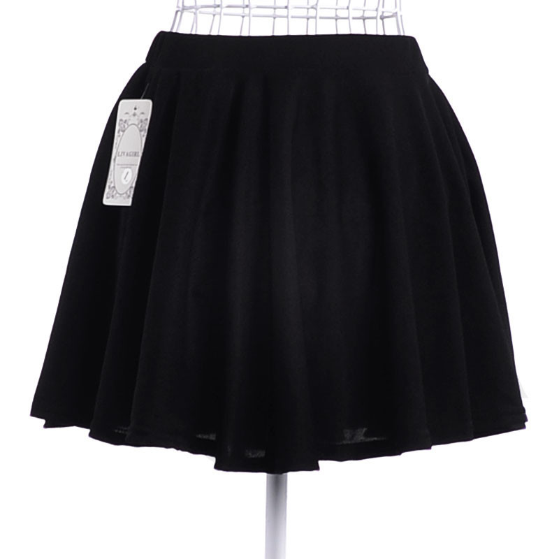2015 New Summer Style Skirt Female Fashion Women Saias High Waist Pleated Candy Color Polyester Solid Ladies Mini Short Skirts(China (Mainland))