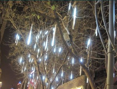 30cm /pcs White Color LED Meteor Shower Rain Tube Lights Outdoor Tree Decoration 5pcs/pack Free SHIPPING(China (Mainland))