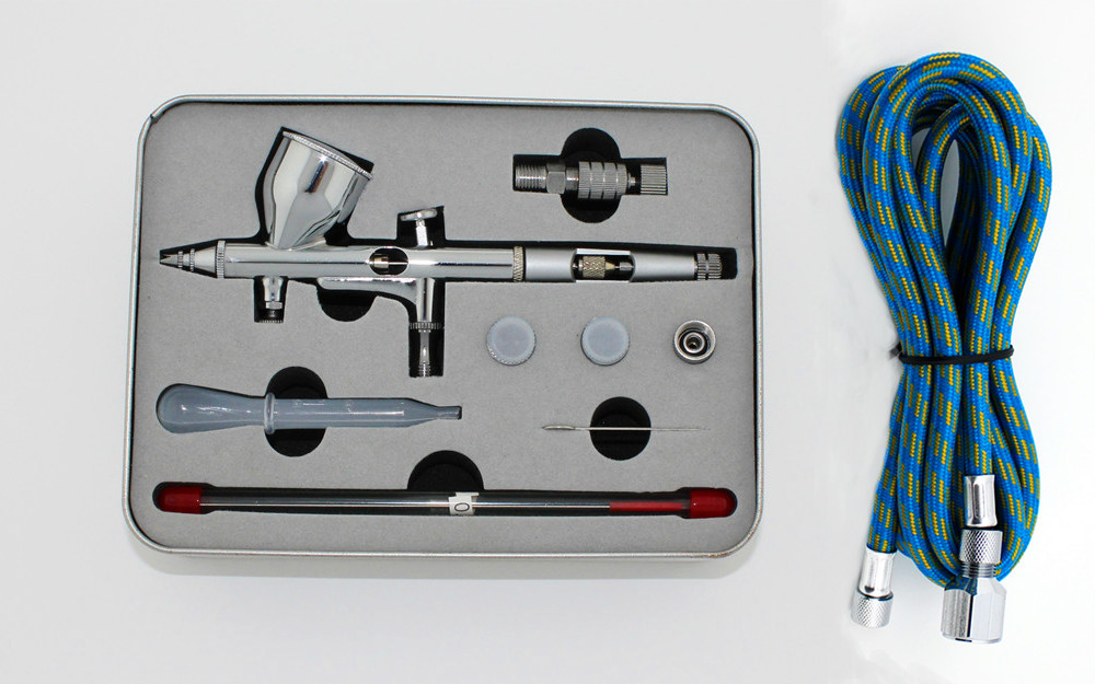 G ABEST PRO Dual-Action Gravity Feed AIRBRUSH w/ 3 TIPS Fine Detail Complete Kit T tools sprey gun<br><br>Aliexpress