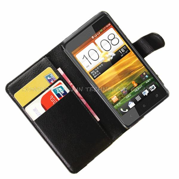 30pcs/lot EMS/DHL new luxury book Style wallet Leather Case Back Cover for HTC Desire 400 leather case with credit card holder(China (Mainland))