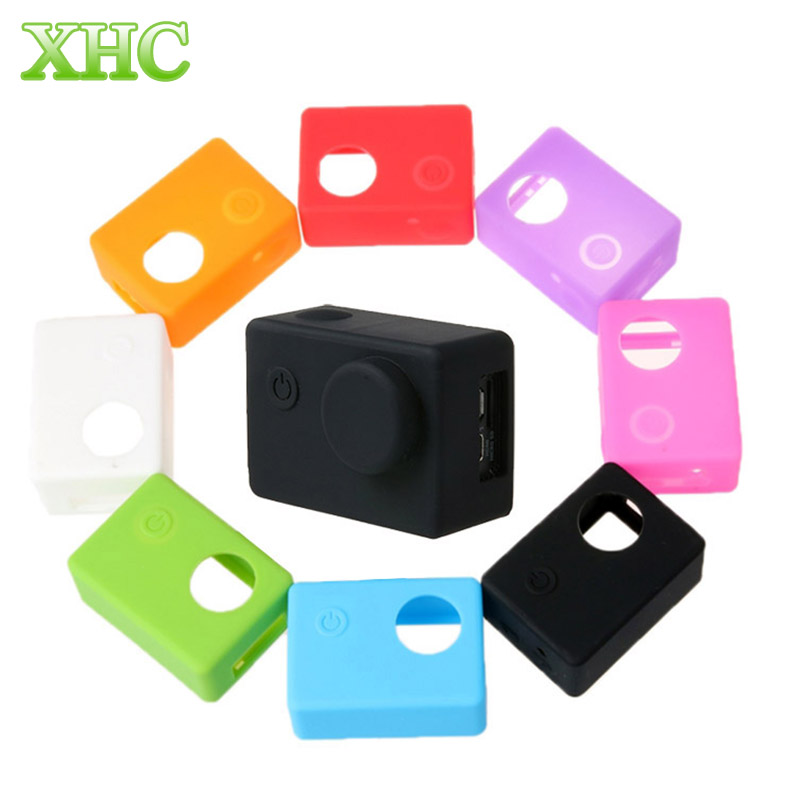 Soft Silicone Gel Full Protective Case for SJCAM SJ4000 / SJ5000 Sport Camera Accessories with Lens Cover(China (Mainland))