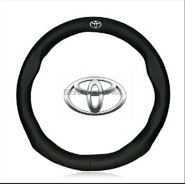 Buy Promotional black cowhide leather steering wheel cover,steering wrap Car (Fits Camery/Reiz/RV4/Carola/Leivin) - BEKAS Auto Accessories Co.,Ltd store